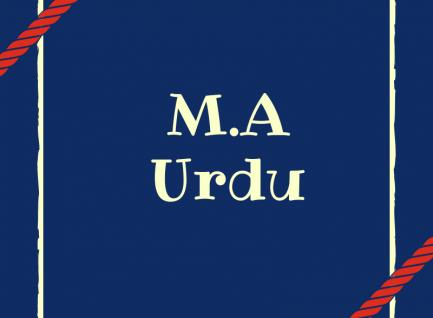 M.A(Urdu)