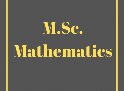 M.Sc. (Mathematics)
