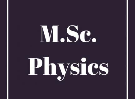 M.Sc.(Physics)